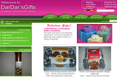 east texas gifts shopping cart website design hosting