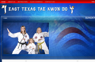 north east texas tae kwon do karate websites